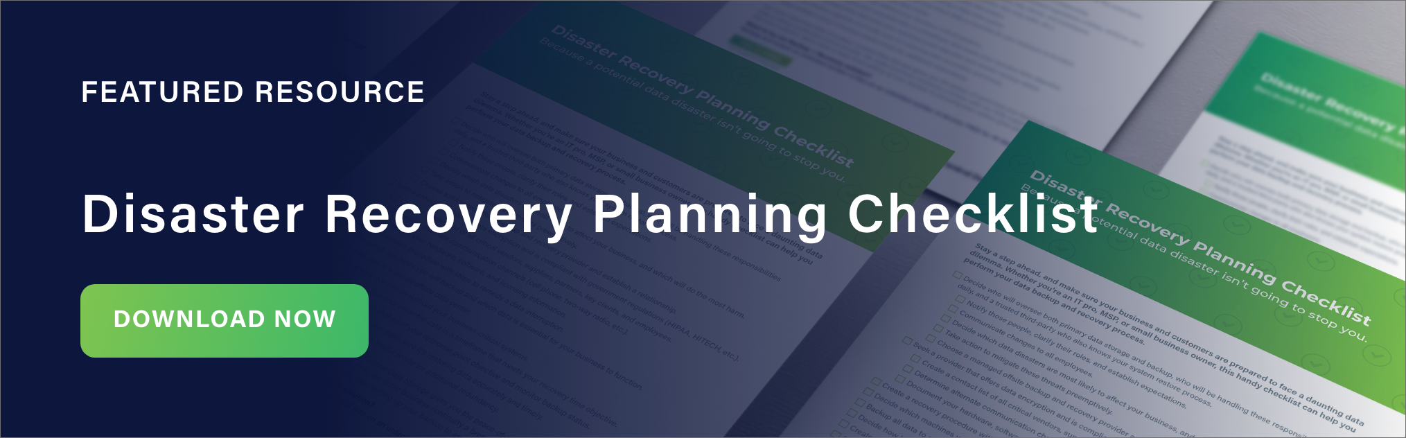 Disaster Recovery Planning Checklist CTA